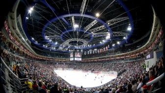 12136 Zuschauer bejubelten in Prag den Finaleinzug von Sparta. Foto: Sparta Prag via Champions Hockey League / Getty Images