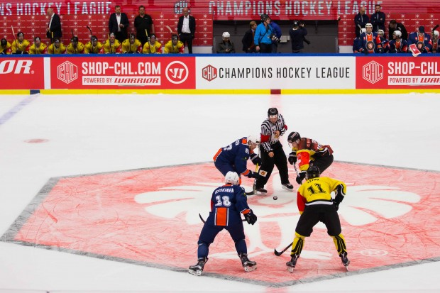 Die Växjö Lakers (hier gegen SaiPa Laapeenranta) kämpfen um den Einzug ins Halbfinale der Champions Hockey League. Foto: Vaxjö Lakers via Getty Images