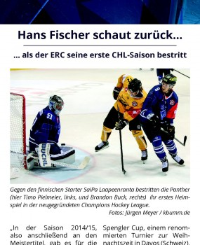 Panther in der Champions Hockey League Hans Fischer