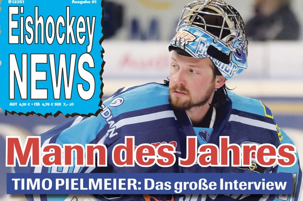 "Timo Pielmeier was awarded as ""Man of the year"" 2014 in Eishockey News."