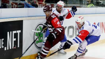 Sparta Prague (here in a CHL-game versus Zurich) is the opponent for the season opener. Foto: Sparta Prag (Champions Hockey League) via Getty Images