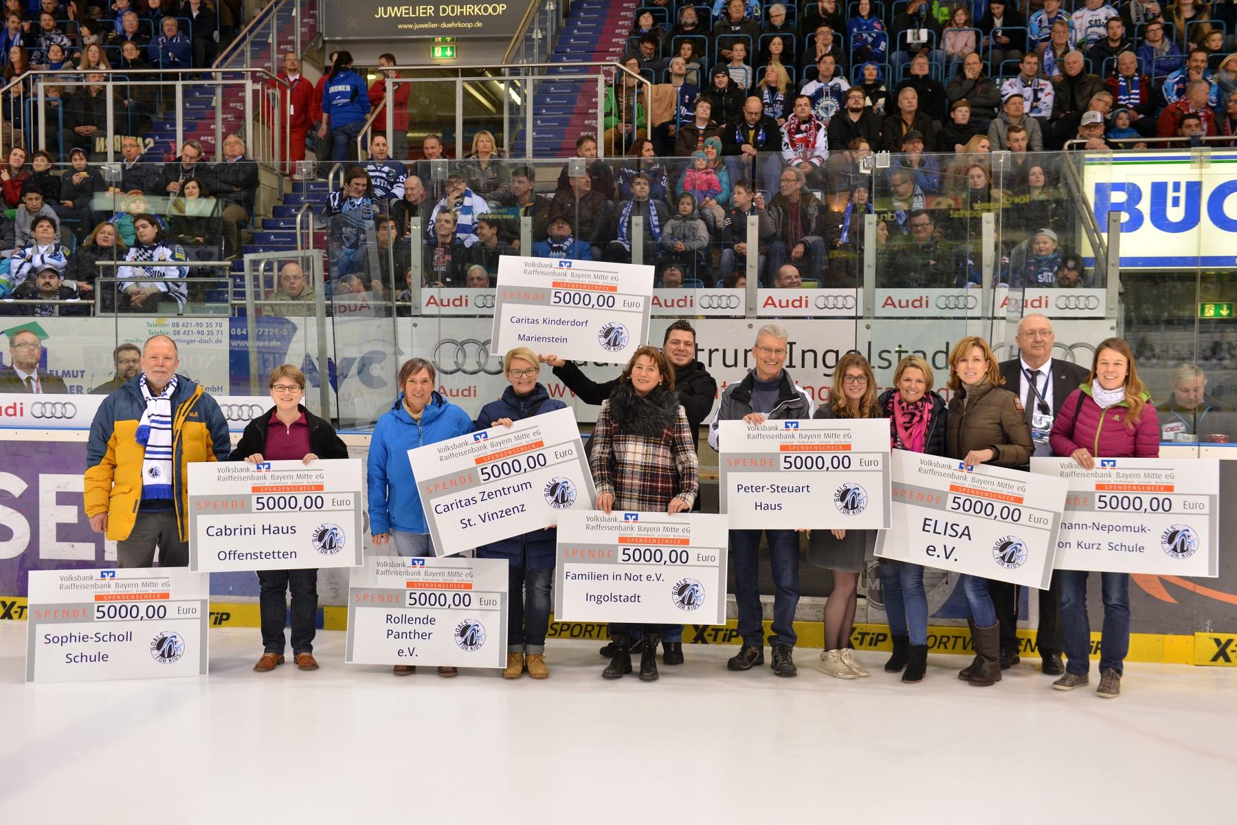 Neun wichtige regionale Einrichtungen und Organisationen erhielten Spenden des Goals for Kids e.V.. Foto: st-foto.de/ Traub