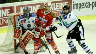 Jean-Francois Jacques (center) has both NHL als Champions Hockey League experience. Foto: Klagenfurter AC