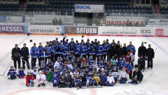 Das Gruppenfoto des Kids on Ice Day November 2017. Foto: Thomas Binder