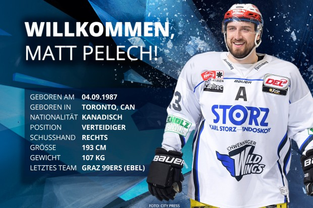 Matt Pelech kommt für die Defensive. Foto: City Press
