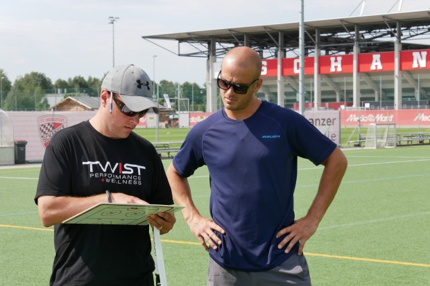 Scott Atkins and John Laliberte talking about the tests. Foto: Wimösterer
