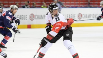 One of the nominees: Rasmus Dahlin, the next hot thing, here in action in Champions Hockey League. Foto: City Press