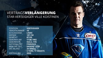Ville Koistinen has extended his contract for two more years.